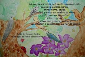 Texto de Rosane Castro e ilustração de Fábia Barbosa Pedro